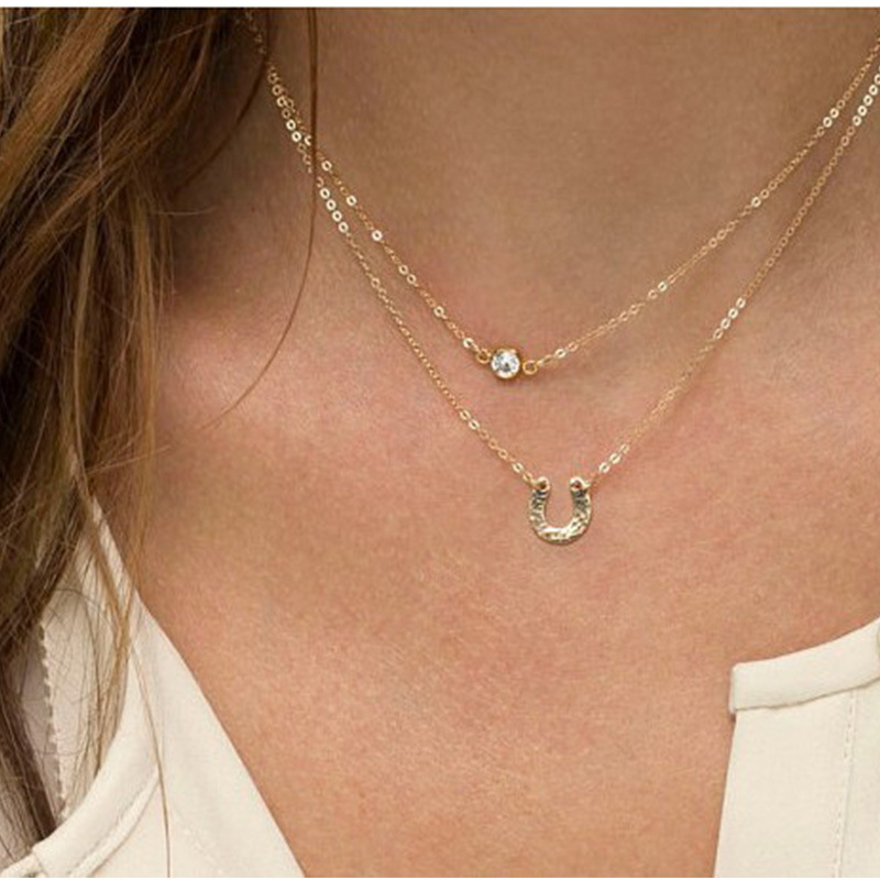 Sterling Silver Simple Jewelry Dainty Chain Layered Elephant Charm Bracelet
