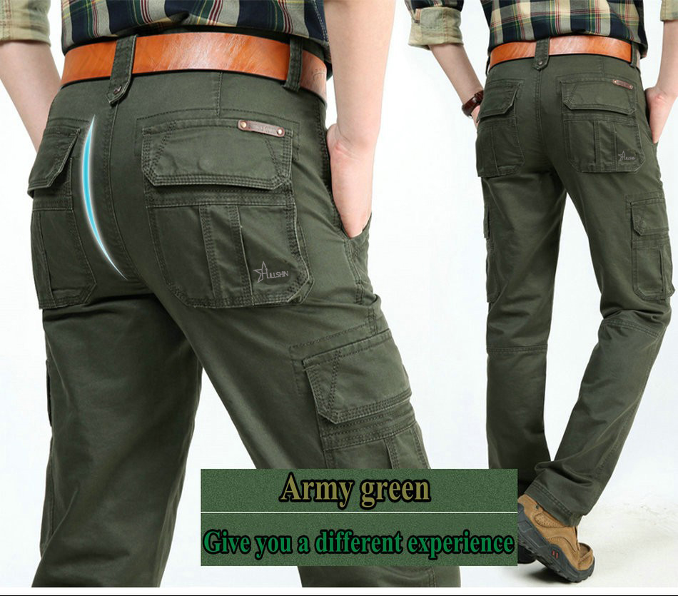 17 Brand Mens fashion Military Cargo Pants Multi-pockets Baggy Men Pants Casual Trousers Overalls Army Pants Joggers 2155 10