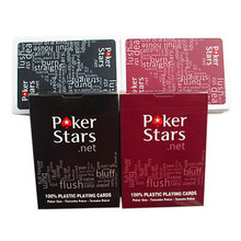1 Set Poker Stars Texas Hold'Em Plastic Playing Cards Waterproof Frosting Poker Card Pokerstar Board Game P5(China)