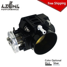 LZONE RACING - FREE SHIP NEW THROTTLE BODY FOR RSX DC5 CIVIC SI EP3 K20 K20A 70MM CNC INTAKE THROTTLE BODY PERFORMANCE JR6951