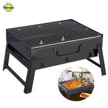 Creative Stainless Steel BBQ Barbecue Grill Compact Charcoal Outdoor Folding Portable Shashlik Barbecue Grill Home BBQ Tool Set(China)