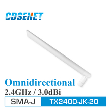 2Pcs 2.4GHz Wifi uhf Omni Directional Antenna High Gain TX2400-JK-20 3.0dBi Flexible 2.4G Omnidirectional Whip Antenna