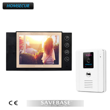 "HOMSECUR 8"" Video Door Phone Intercom Doorbell Home Security 1 White Camera + 1 Monitor(China)"