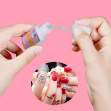 Low Price 10g Nail Art Glue With Brush Paste False Nails Tips Glitter Uv Acrylic Rhinestones Decoration Gel