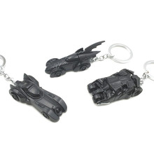 Christmas Toy Gift 1pc 6cm Marvel Superhero Superman Chariots and Batman Chariots Car Model Keychain Metal