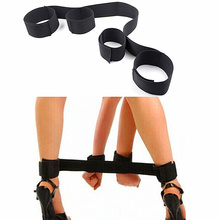 Buy Nylon hand cuffs arm wrist restraint leg lift open handcuff body bondage harness Adult Game SM Sex Toy Set couples women men