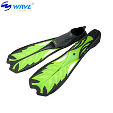 WAVE Comfort Flexible Adult Swimming Fins Submersible Long Swimming Flippers Snorkeling Foot Diving Fins 3 Size S-L