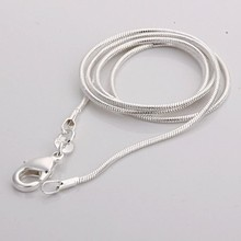 2017 silver jewelry necklace 16 18 20 22 24 inches Lobster Clasp silver snake chain necklace for women men