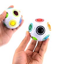 New Puzzle Magic Cube Balls Rainbow Football Fidget Cube Decompression Finger Toys Kids Educational Learning Fun Toy(China)