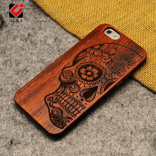 Natural U&I Brand New Wood Phone Case For iPhone 5 5S 6 6S 6Plus 7 7Plus Cover Wooden High Quality Shockproof Protector Coque(China)