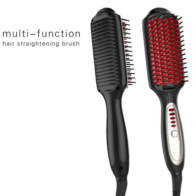 2 in 1 Multifunctional straightenner comb straight hair curly hair  2016 New Hair styling tool Hair straightener brush A2<br>