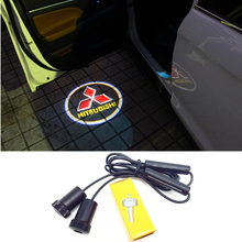 LED Car Door Logo Light Laser Welcome Guest Shadow Projector Light For Mitsubishi asx lancer 10 outlander 2013 pajero l200 Expo