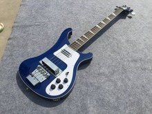 holesale - 4 strings bass 4003 blue electric bass guitar silver hardware China Guitar HOT SALE