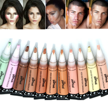 Brand Makeup Concealer 12 Colors Waterproof Camouflage Liquid Concealer Stick Face Foundation Cream Contour Highlighter Makeup