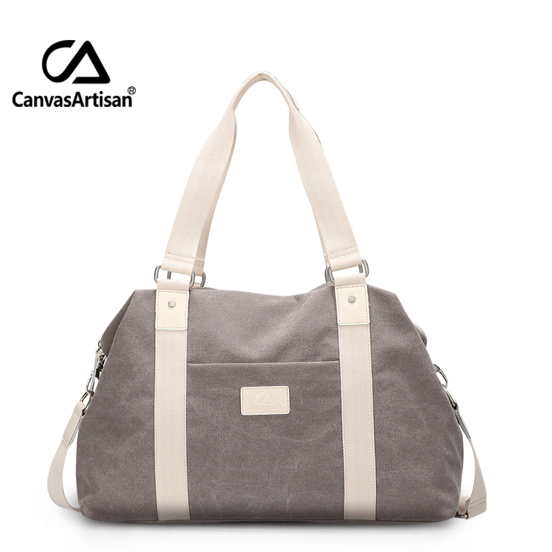 Canvasartisan Unisex Canvas Large Capacity Travel Handbag Men and Women Travel Duffle Bags Multifunctional Crossbody Travel Bag<br>