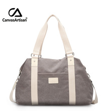 Buy Canvasartisan Unisex Canvas Large Capacity Travel Handbag Men Women Travel Duffle Bags Multifunctional Crossbody Travel Bag for $26.40 in AliExpress store