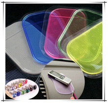 HOT SALE Powerful Silica Gel Magic Sticky Pad Anti Slip Non Slip Mat for Phone Car Accessories  With 2pcs Dust Plug CAR-0091