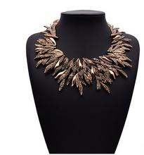 12 pcs/lot Europe and exaggerated retro ethnic style willow necklace jewelry wholesale