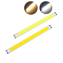 Highlight LED Light Strip 120MM*10MM 10W 3000K COB Super 1050lm Warm White Lights Strips Lamps DIY Car Work 12CM COB Bar Light(China)