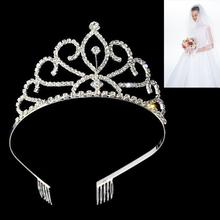 Princess Crown Bride Pageant Crowns Hair Comb Ornaments Jewelry Queen Diadem Wedding Tiaras Bride King Headband