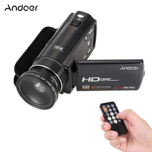 "Andoer HDV-V7 3.0"" 1080P Full HD Digital Video Camera Camcorder Max 24 Mega Pixel 16x Digital Zoom w/ 37mm 0.45x Wide Angle Lens"