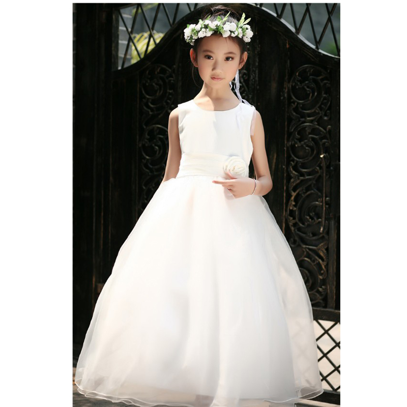 six colors Girls   round neck tulle dress  for lovely  children  4-17 years  YL01<br><br>Aliexpress