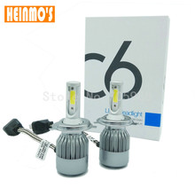 COB 72W 7600LM H4 LED Headligh high and low beam hi/low Auto headlamp Car LED Kit DRL fog light 9007 9004 h13 h7 h11 h8 CE ROHS(China)