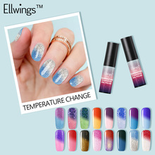 Ellwings Hybrid Nail Paint Temperature Changing Color Gel Varnish Soak Off UV Gel Lacquer Color Changing Gel Polish Chamelon(China)