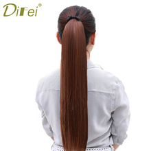 Buy DIFEI Long Straight Wrap around Ponytail Extensions Synthetic Clip Ponytail Hair Extensions Hairpiece Women for $4.56 in AliExpress store