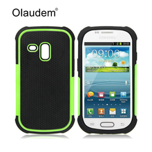 S3 mini  Armor TPU + PC Hybrid Tough Phone Case For Samsung Galaxy S3 mini i8190 Silicone Back Cover Rubber Protective Bag 77X
