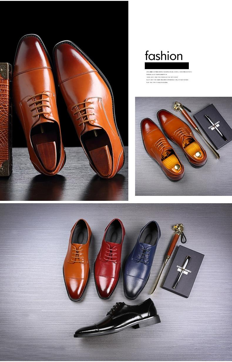 Mens Casual Shoes' Moccasin Men's Oxfords Shoes Men Winter Classic Party Wedding Men Casual Shoes Flats Formal Shoe Business New (2)