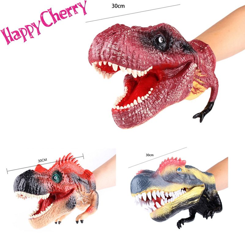 Happy Cherry Parent-child Toys Interactive Toys High Simulation Plastic Toy Figure Dinosaur Hand Puppet<br><br>Aliexpress