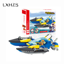 City Transportation Speedboat Boat Small Particles Building Blocks Model Bricks Toys Brinquedos Birthday Gift(China)