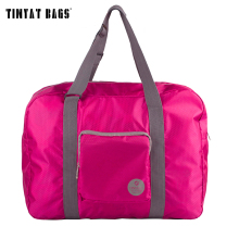 TINYAT Foldable Bag Women Light Luggage High Capacity Convenient Usage Multifunction Duffle Bag Waterproof Nylon Bag T302 Red