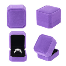 High Quality Velvet Engagement Wedding Earring Ring Pendant Jewelry Display Storage Box Case 7 Colors(China)