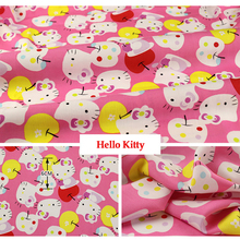 50cm*160cm/piece 100% Cotton HELLO KITTY Printed Fabric for Baby Cartoon Bedding Textile Patchwork Quilt Sewing Fabric Material