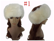 Faux Fur Fashion Women's Headband Head Wear Band Hair Accessory Plain Color Leopard , Free Shipping(China)