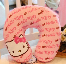 Kawaii 27*27CM U-Neck Hello Kitty Plush TOY Neck Pillow Cushion Home & Car Cotton HOME U Shape Neck Pillow Cushion PAD