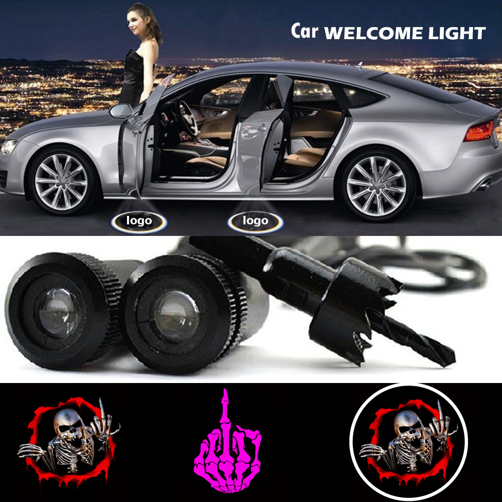 2 X Car Door Light Laser Welcome Ghost Shadow Projector Logo Light for Bmw Audi Polo Vw Skoda Ford Focus Lada Opel Renault<br><br>Aliexpress