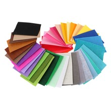 40 pcs/Pack DIY Polyester Felt Fabric Cloth Thickness Handmade Sewing Home Decor New 2017(China)