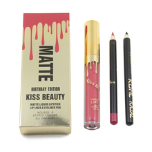 Kiss Beauty Brand Kilie Lip Kit lipstick Liquid Matte Gloss Mate Lipkit HOLIDAY BIRTHDAY EDITION koko kollection candy K LIPGLOS