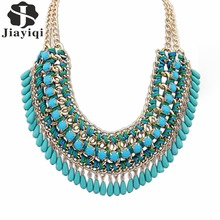 2017 New Fashion Bohemia Knitting Necklace Choker Collar Maxi Necklace Fine Jewelry For Women Statement Necklace Valentine's Day