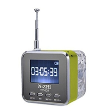 NiZHi TT-029 Stereo Speaker Mini LED Display Speakers Music Player with Crystal Fm Radio Alarm Clock TF Slot USB Altavoz Hotsale(China)