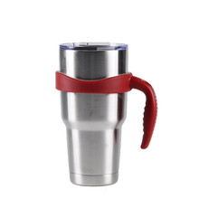 5 Colors Anti-slip Plastic Mug Handle For Yeti Rambler 30 Ounce Heat Insulation Cup Vacuum Flask Holder Travel Tumbler Holder