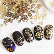 2017 Nail jewelry time gear DIY steam punk wind machinery nail ornaments copper nail art decorations nails accessoires DM078