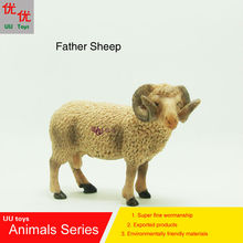 Hot toys:Father Sheep simulation model Animals kids toys children educational props(China)