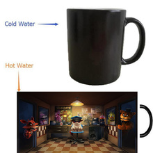 five nights at freddys cat mug magic mugs coffee mug heat reveal Heat sensitive mugs changing color wine(China)