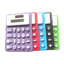 NOYOKERE Top Quality Mini Series Calculator Portable Silicone Calculator Solar Candycolor Ruler Creative Magnetic Student Card(China)