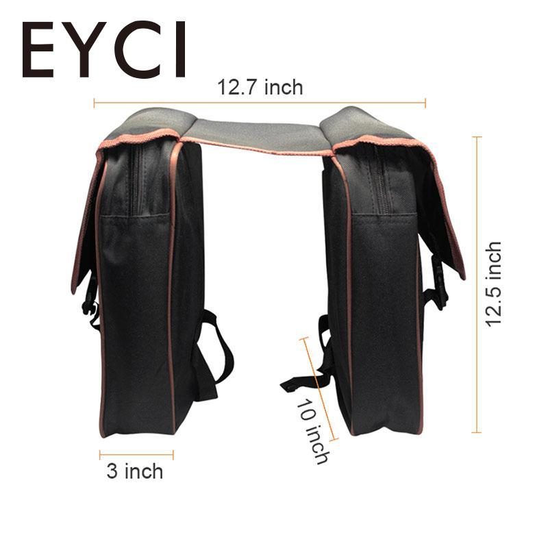 EYCI MTB Bicycle Carrier Bag Rear Seat Bike Trunk Bag Luggage Pannier Back Seat Double Side Cycling Bycicle Bag