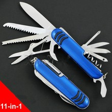 WIZARD S-02 Swiss Knife 11-in-1 Multi Function Stainless Steel Tool Knife